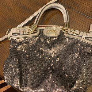 Metallic Brown Bling Coach Purse